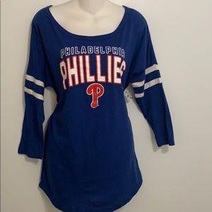 Ladies Philadelphia Phillies Med Pullover Top NFL